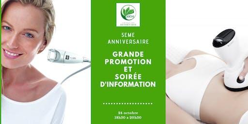 Grande Promotion -5eme anniversaire de la clinique du corps DOCHI