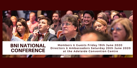 BNI National Conference 2020 tickets