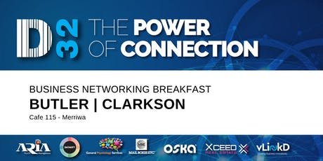 District32 Business Networking Perth – Clarkson / Butler / Perth - Fri 15th Nov tickets