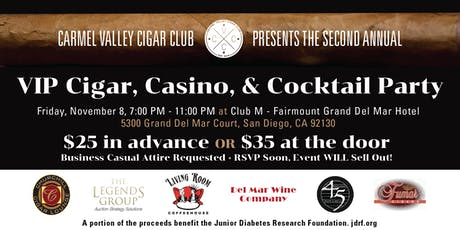 VIP Cigar, Casino, & Cocktail Party To Benefit The JDRF tickets