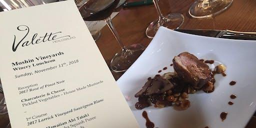 Moshin Vineyards Vintner's Luncheon at Valette Healdsburg
