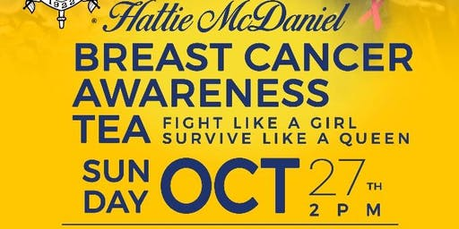 Mu Sigma Chapter of Sigma Gamma Rho, Inc. presents Hattie McDaniel Breast Cancer Awareness Tea