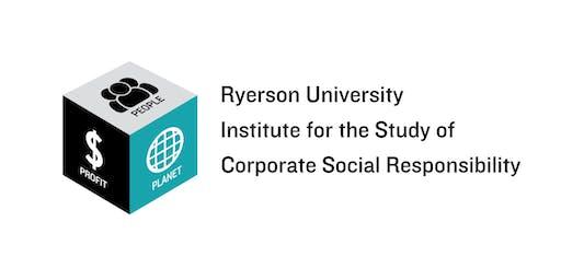 Ryerson CSR Institute: Creating an ESG Performance Market-Nov 1, 3pm - 5pm
