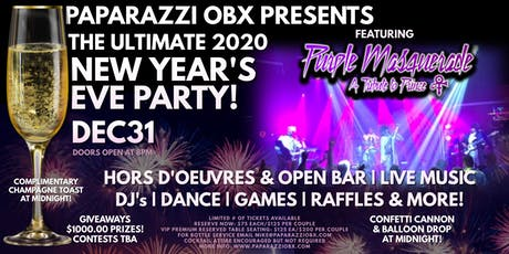 THE ULTIMATE 2020 NEW YEAR'S EVE PARTY! Featuring Purple Masquerade! LIVE! tickets