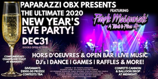 THE ULTIMATE 2020 NEW YEAR'S EVE PARTY! Featuring Purple Masquerade! LIVE!