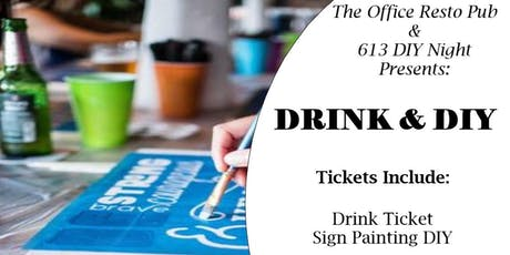 DRINK & DIY tickets