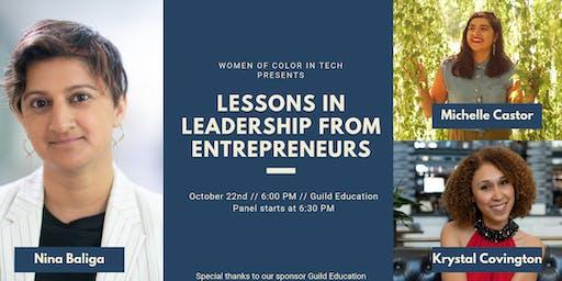 Lessons in Leadership from Entrepreneurs