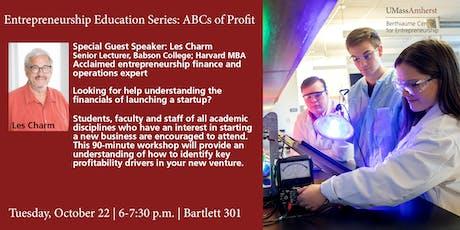 Entrepreneurship Education Series: ABCs of Profit tickets