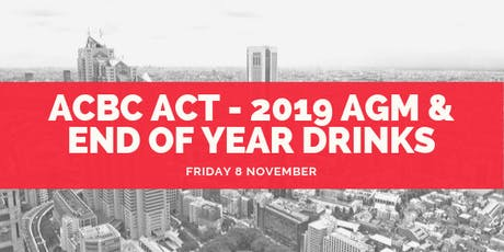 ACBC ACT - 2019 AGM & End of Year Drinks tickets