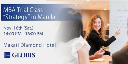 """Strategy"" MBA Trial Class in Manila"