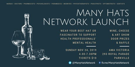 Many Hats Network Launch - Wine, Cheese and Art Show tickets