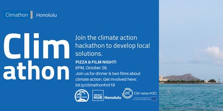 Climathon Honolulu: Pizza & Film Night tickets