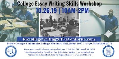 College Essay Writing Skills Workshop