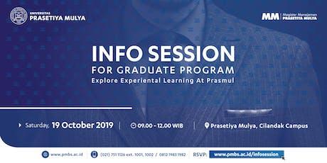 Info Session MM Prasetiya Mulya - Sabtu, 19 Oktober 2019 tickets