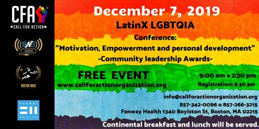 LatinX LGBTQIA Motivation, Empowerment, and Personal Development Conference