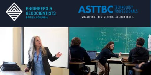 Professionalism & Student Registration: ASTTBC & EGBC Presentation to the technologies