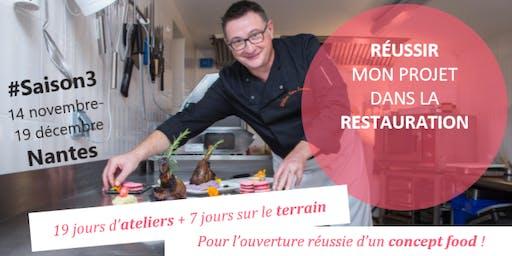 """""""5 semaines pour Réussir mon projet dans la Restauration"""" / #Saison3 / réunion d'info"""