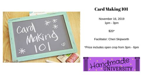 Handmade Holiday Card Making + Open Studio Time