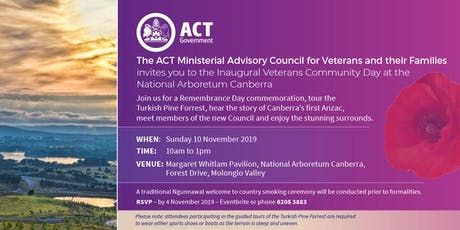 Veterans Community Day at the National Arboretum Canberra tickets