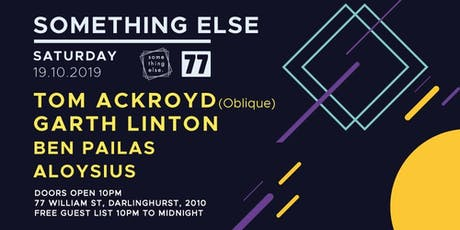 Something Else with Tom Ackroyd (Oblique) tickets