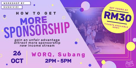 How to Get More Sponsorship? tickets