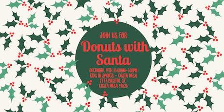 Orange County Moms Blog Donuts with Santa -Costa Mesa 2019 tickets