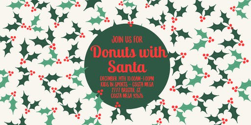 Orange County Moms Blog Donuts with Santa -Costa Mesa 2019