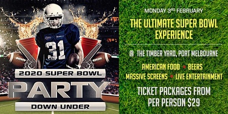 2020 SUPER BOWL PARTY DOWN UNDER tickets