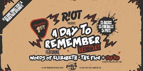 Riot • ADTR Tribute • Pelly Bar tickets