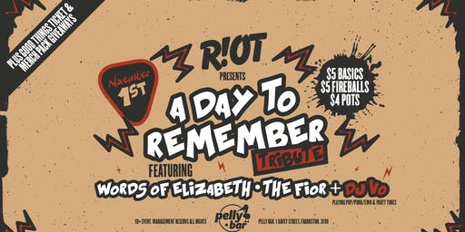 Riot • ADTR Tribute • Pelly Bar