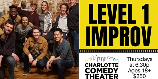 Adult Level 1 Improv Comedy Classes : 6 Week Sessions