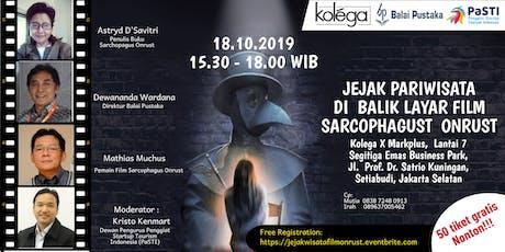Jejak Pariwisata Di Balik Layar  Film Sarcophagus Onrust tickets
