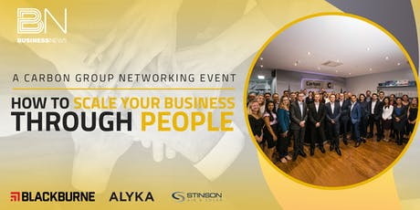 Carbon Group Presents: How to scale your business through people tickets