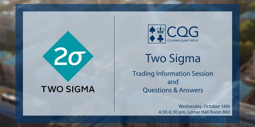 CQG hosts Two Sigma