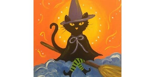 Bewitched Kitty - Paint & Sip