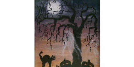 Eerie Cat Moon - Paint & Sip