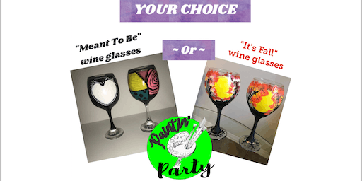 PAINTIN' PARTY w/ Kat on WINE GLASSES & Nightmare Before Xmas Costume Party