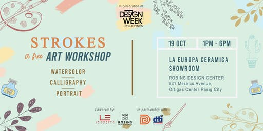 DESIGN WEEK PH : Strokes, A Free Art Workshop