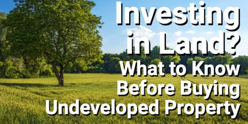 Real Estate(Land) investment seminar