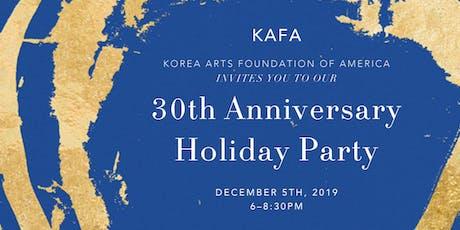 KAFA's 30th Anniversary Holiday Party tickets