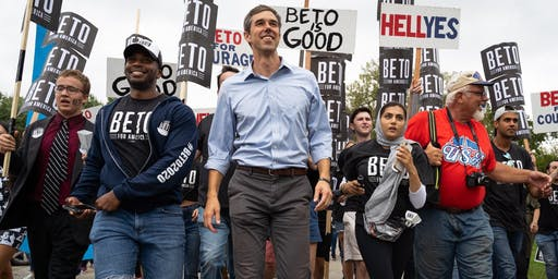 KATY FOR PRESIDENTIAL CANDIDATE BETO O'ROURKE ORGANIZING TOUR