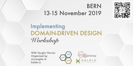 Intensive, 3-Day, hands-on IDDD Workshop by Vaughn Vernon in Bern (CH) billets