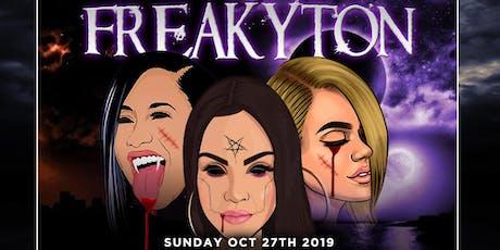 FREAKYTON Halloween Reggaeton Party @ The GLOBE DTLA 18+ / FREE until 1030 tickets