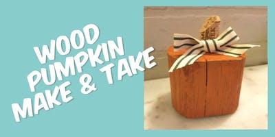 Wood Pumpkin Make and Take