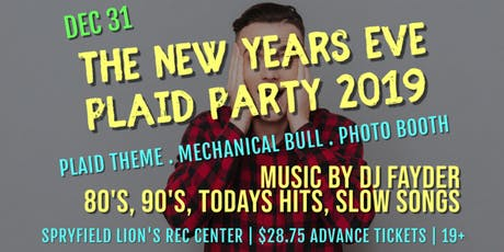 The New Years Eve Plaid Party 2019 tickets