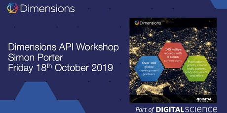 Dimensions data science for curious librarians and research analysts tickets