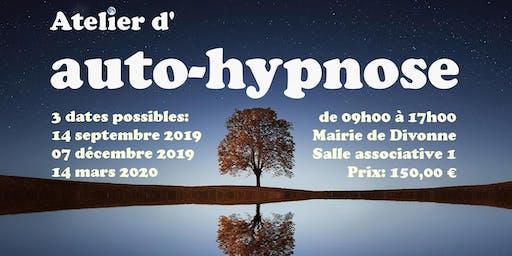 Apprenez l'auto-hypnose à Divonne 01220 le 7 décembre 2019