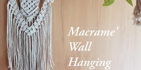 Tangled Macrame' Wall Hanging Workshop tickets