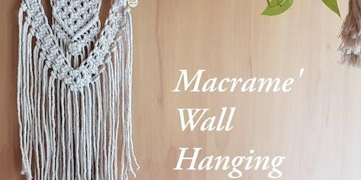 Tangled Macrame' Wall Hanging Workshop