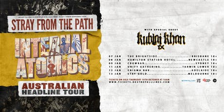 Stray From The Path 'Internal Atomics'  Aus Tour - Brisbane tickets